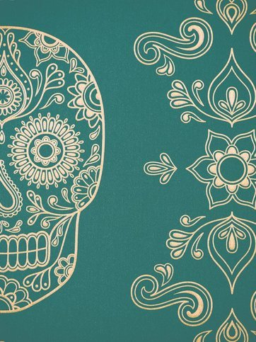 Anatomy Boutique Mexican Day of the Dead Sugar Skull Wallpaper