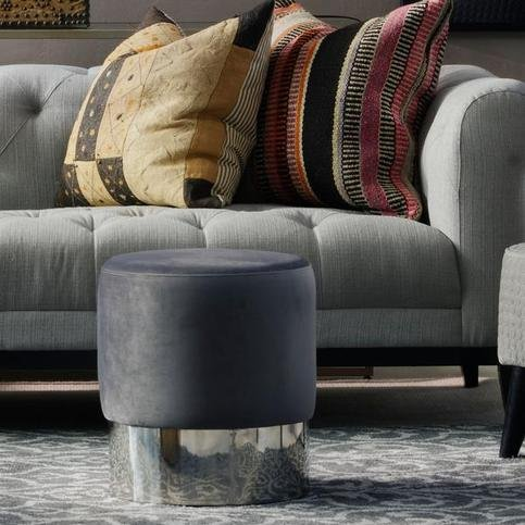 Andrew Martin Chandler Grey Stool