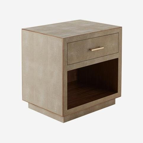 Andrew Martin Fitz Cream Bedside Table