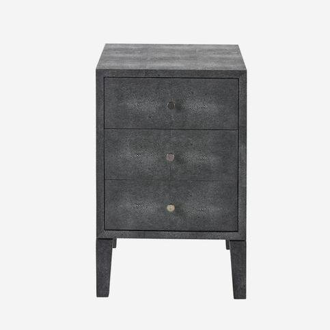 Andrew Martin Georgia Grey Bedside Table