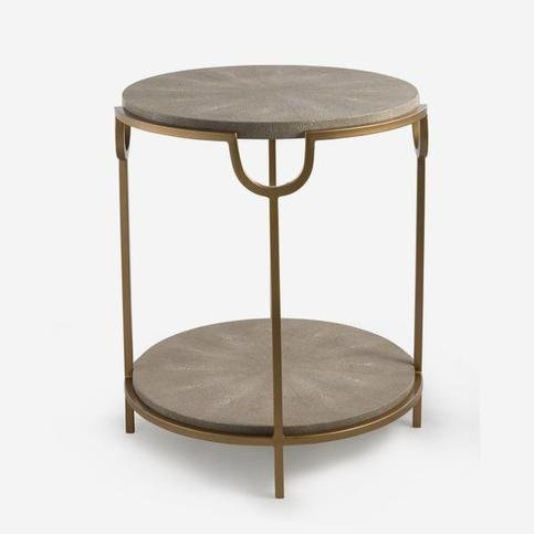 Andrew Martin Katia Cream Side Table
