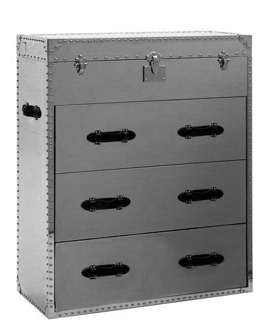 Andrew Martin Steel Chest of Drawers