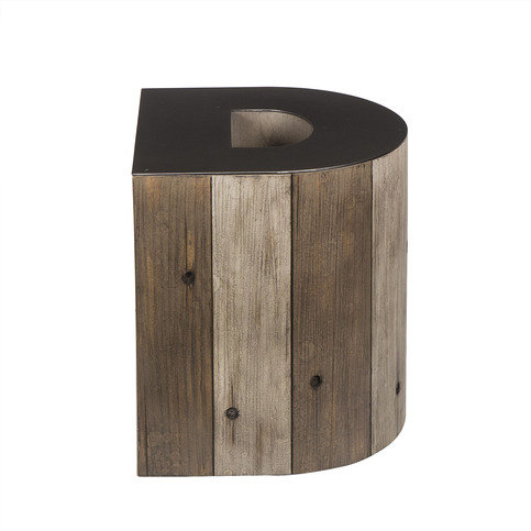 Andrew Martin Wooden Alphabet D Side Table