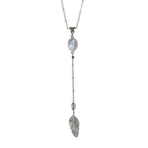 Brave Lotus Feathered Arrow Necklace