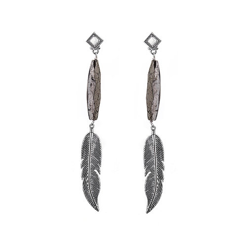 Brave Lotus Feathered Warrior Earrings