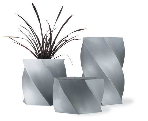 Capital Garden Products Twister Small Aluminium Planter