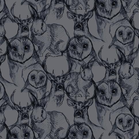 Charlotte Jade Woodland Animals Wallpaper