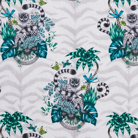 Emma J Shipley for Clarke & Clarke Lemur Jungle Wallcovering