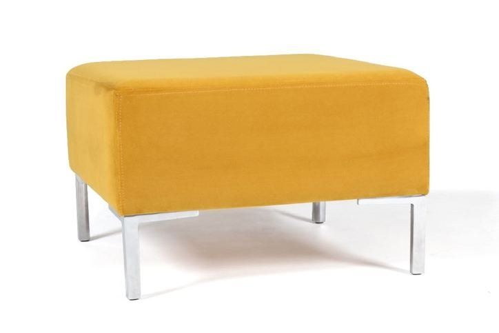 AD Upholstery Simple Ottoman With Metal Legs