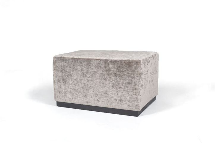 AD Upholstery Simple Ottoman With wooden plinth