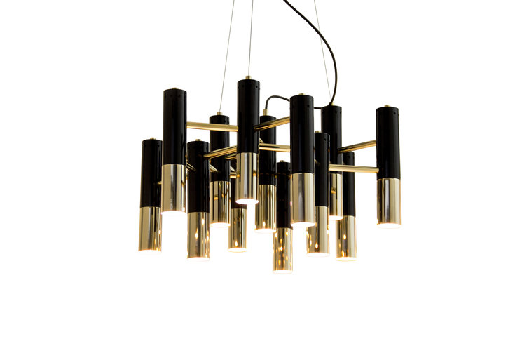Delightfull Ike Chandelier Gold Plated.