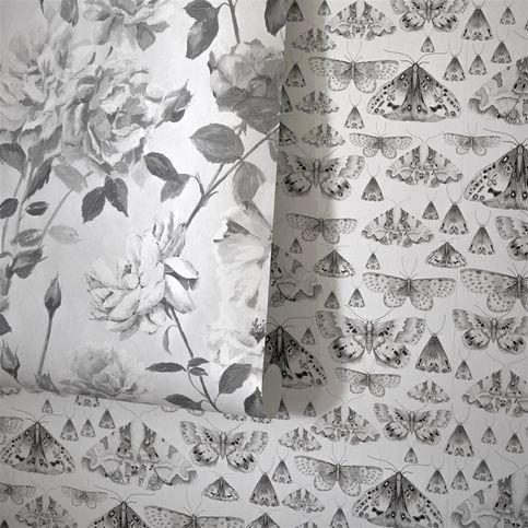 Designers Guild Issoria Black and White Wallpaper  Thumbnail