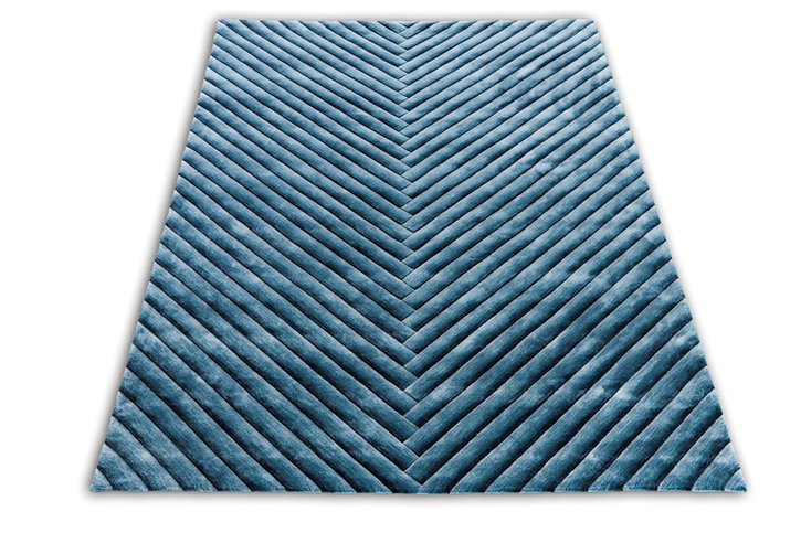 Front Abstract Gradient Blue Rug