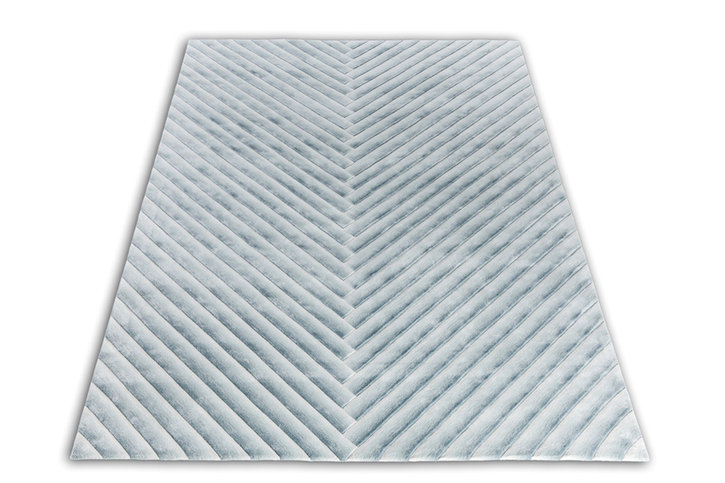 Front Abstract Gradient Silver/Blue Rug