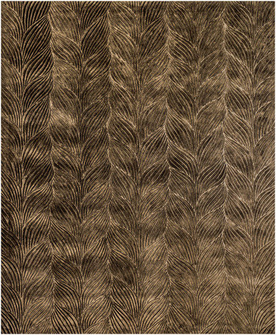 Front Braid Olive Gold Rug Thumbnail