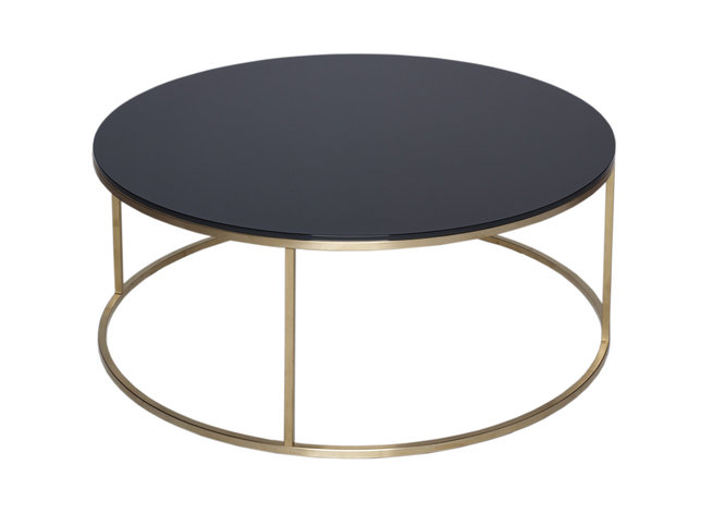 Gillmore Space Kensal Black and Brass Circular Coffee Table