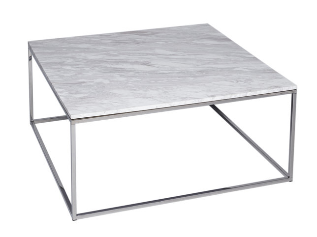 Gillmore Space Kensal Marble and Steel Square Coffee Table
