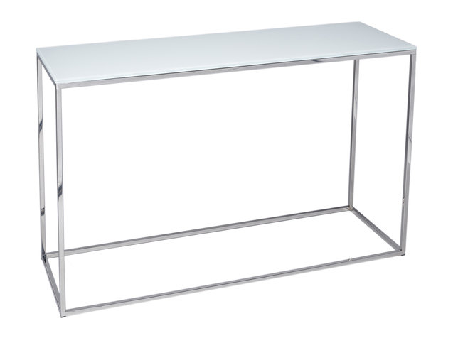 Gillmore Space Kensal White and Steel Console Table