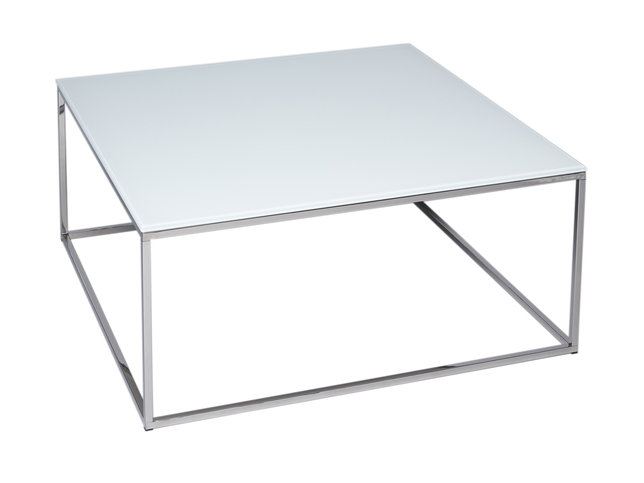 Gillmore Space Kensal White and Steel Square Coffee Table