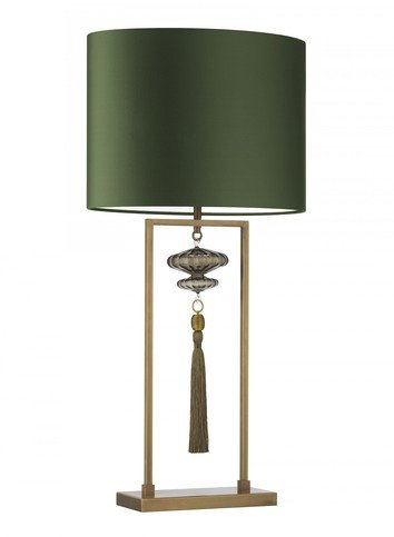 Heathfield Constance Antique Brass Smoke Table Lamp