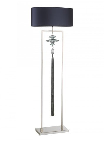 Heathfield Constance Nickel Opal Jade Floor Lamp