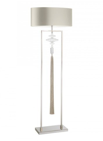 Heathfield Constance Nickle Clear Floor Lamp