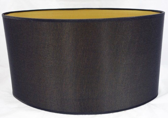 Heathfield Dark Charcoal Oval Satin Shade