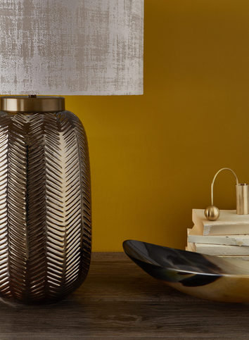 Heathfield Fern Bronze Table Lamp