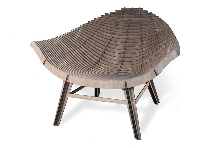 Ibride Manta Armchair Wood Thumbnail
