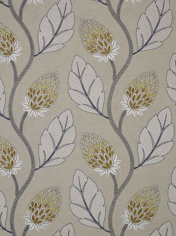 James Hare Portobello Flower Yellow Fabric