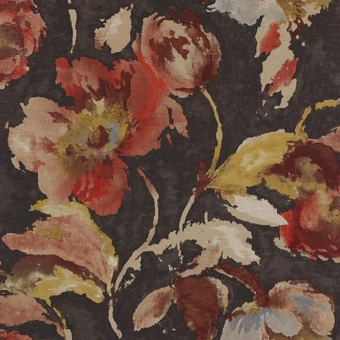 Jane Churchill Beatrice Charcoal/Copper Wallpaper