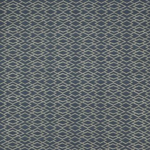 Jane Churchill Geometric Silk Midnight Wallpaper