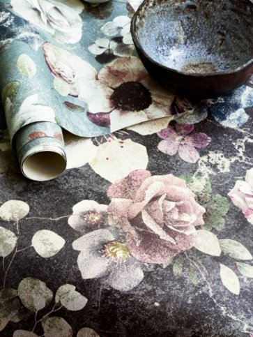 Jane Churchill Marble Rose Aqua Wallpaper