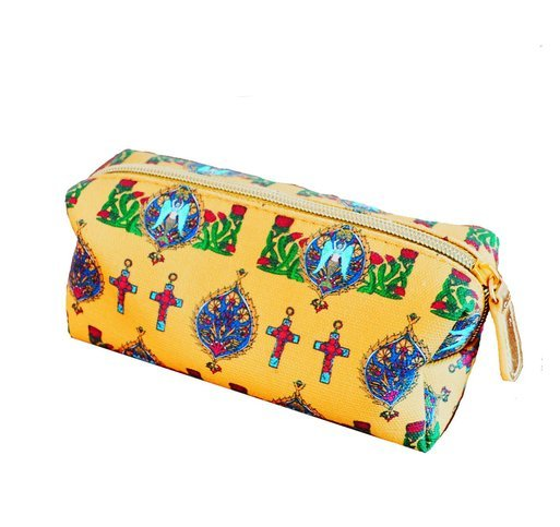 "Jessica Russel Flint Mini Make Up Bag/ ""The Yellow Margharita"""