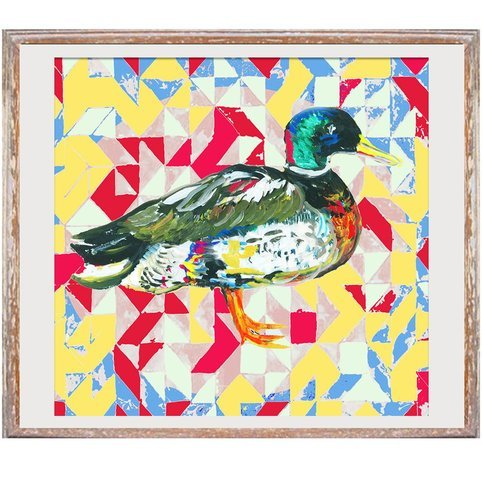 "Jessica Russel Flint ""The Aztec Duck"" Limited Edition Print"