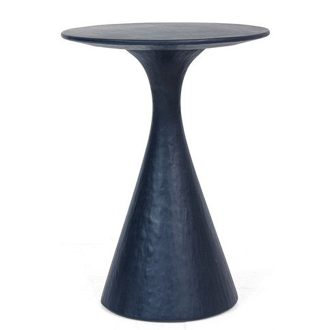 Julian Chichester Kaspar Blue Faux Gesso Side Table