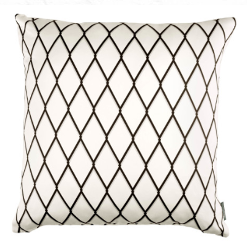 Kirkby Design Diamond Cushion Monochrome