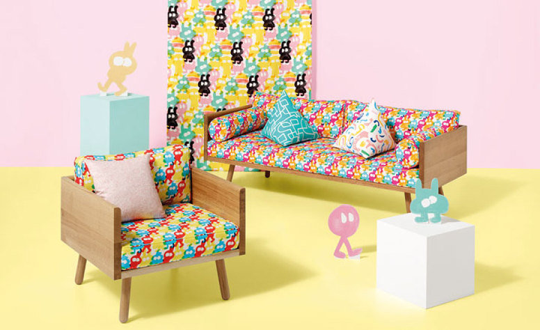 Kirkby Design Zag Zig Spearmint Fabric