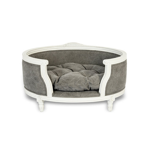 Lord Lou George Stonewashed Canvas Grey Pet Bed