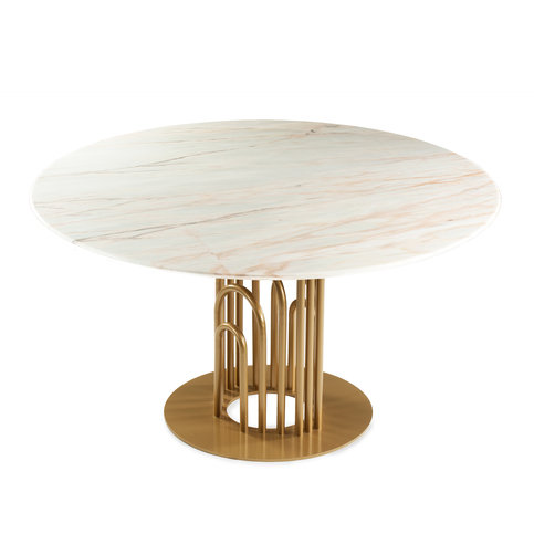 Mambo Unlimited Ideas Bara Gold Dining Table