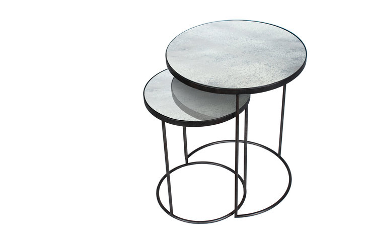 Notre Monde Clear Nesting Side Table Set