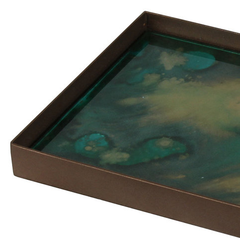 Notre Monde Malachite Organic Mini Medium Tray