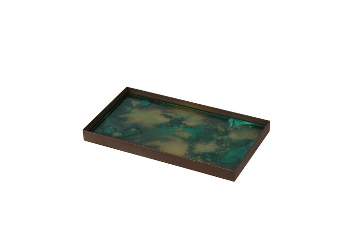 Notre Monde Malachite Organic Mini Medium Tray Thumbnail