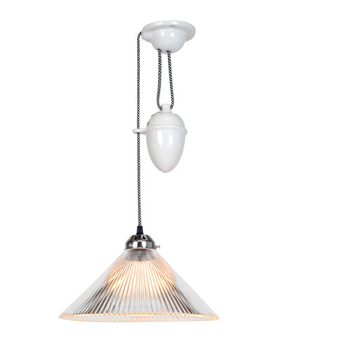 Original BTC Coolie Prismatic Rise & Fall Pendant Light