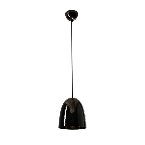 Original BTC Stanley Hammered Black Nickel Small Pendant Light