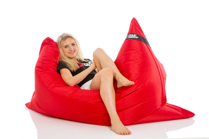 Pouf Daddy The Daddy Red Large Rectangle Bean Bag