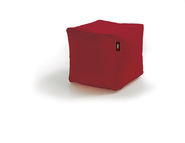 Pouf Daddy The Pouf Original Cube Red Bean Bag Seat