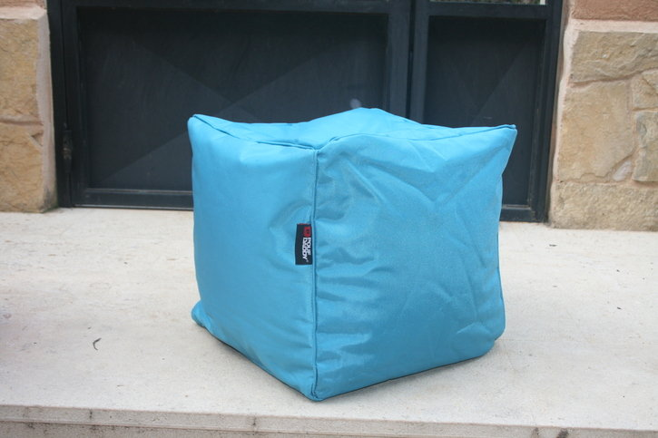 Pouf Daddy The Pouf Original Cube Scuba Blue Bean Bag Seat