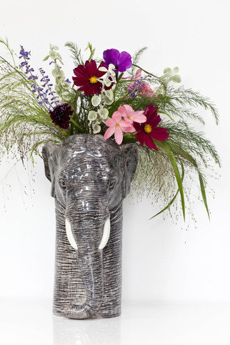 Quail Elephant Large Flower Vase