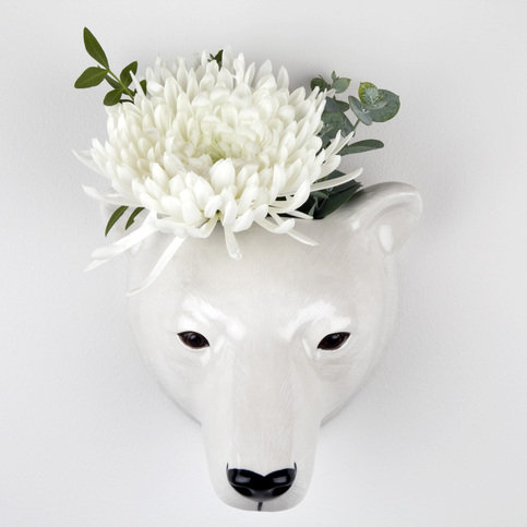 Quail Polar Bear Wall Vase Thumbnail